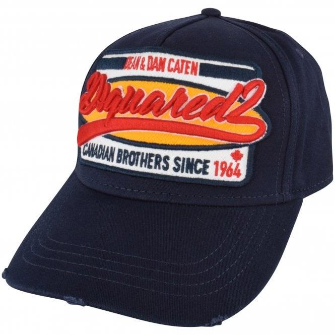 DSQUARED2 Navy Logo Cap Side