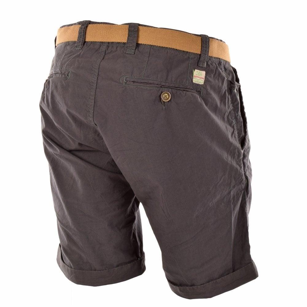 Dstrezzed Charcoal Regular Slim Fit Shorts Dstrezzed