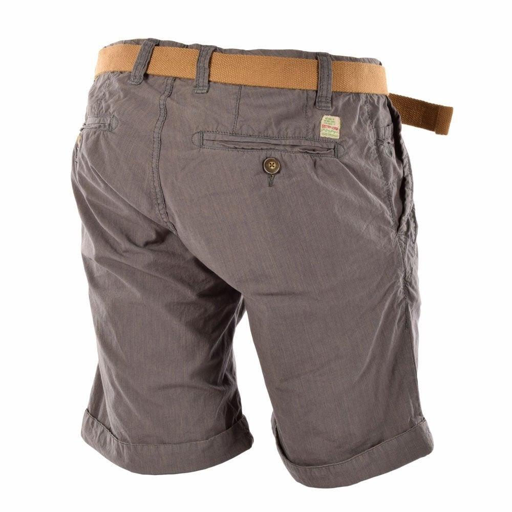 Dstrezzed Grey Regular Slim Fit Shorts Dstrezzed From