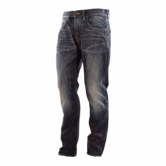 I010538.F8.R3 Dark Fade Distressed Slim Fit Jean