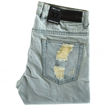 Embellish Light Wash Distressed W9 Aventador Skinny Fit Jeans