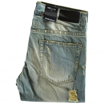Embellish Vintage-Wash Distressed Vignale Skinny Fit Jeans