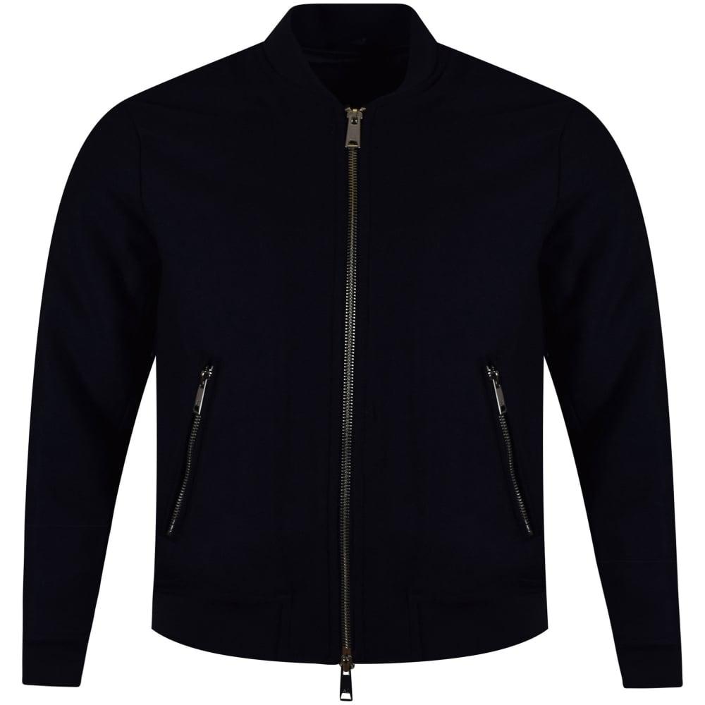 840065ddd Armani Jeans Navy Woolen Bomber jacket