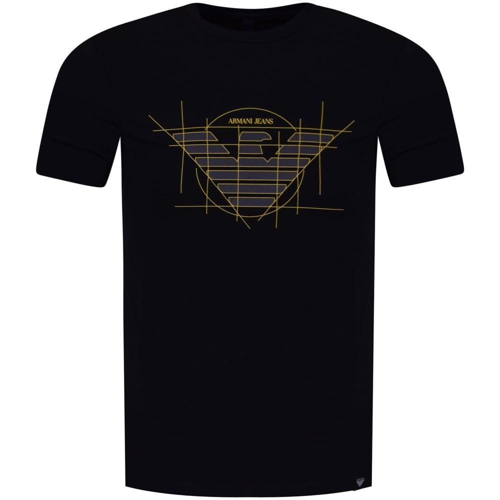 EMPORIO ARMANI Armani Jeans Navy/Yellow Template Logo T
