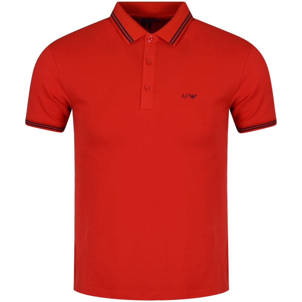 b5784b8c4e2a EMPORIO ARMANI Armani Jeans Red Eagle Logo Polo Top - Men from ...