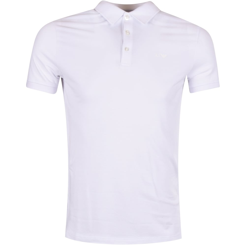 8fb7caca EMPORIO ARMANI Armani Jeans White Short Sleeved Polo Shirt - Men from  Brother2Brother UK