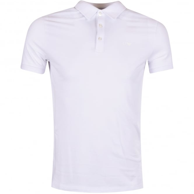 EMPORIO ARMANI Armani Jeans White Short Sleeved Polo Shirt