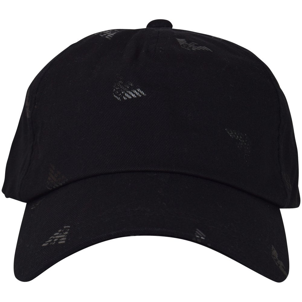3ce1d9d348b EMPORIO ARMANI Black Tonal Eagle Baseball Cap - Men from ...
