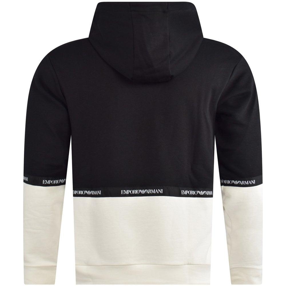dd625475 Black/White Contrast Panel Hoodie