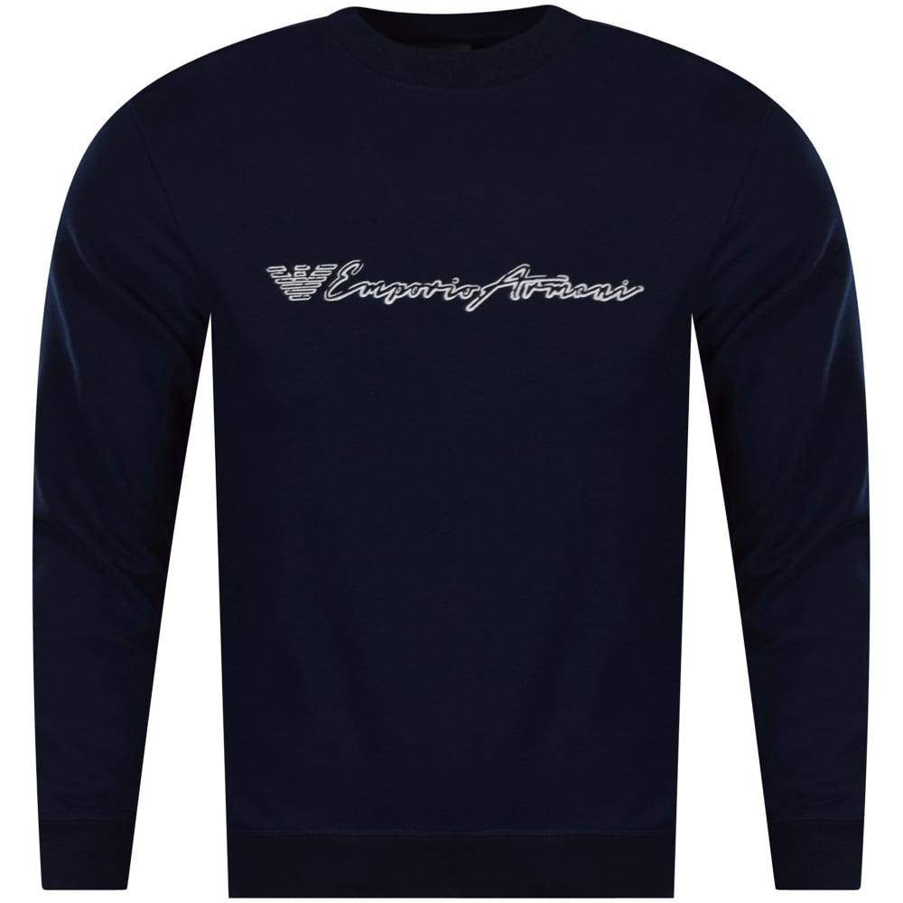 90e576362368d EMPORIO ARMANI Emporio Armani Blue Chest Logo Sweatshirt - Men from ...
