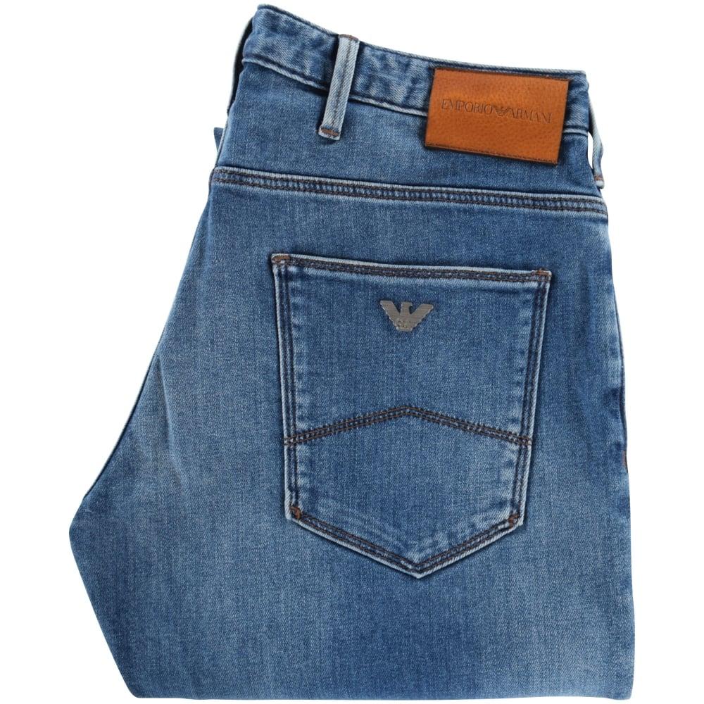 8d94ac2d6 EMPORIO ARMANI Emporio Armani Blue Denim J06 Slim Fit Jeans