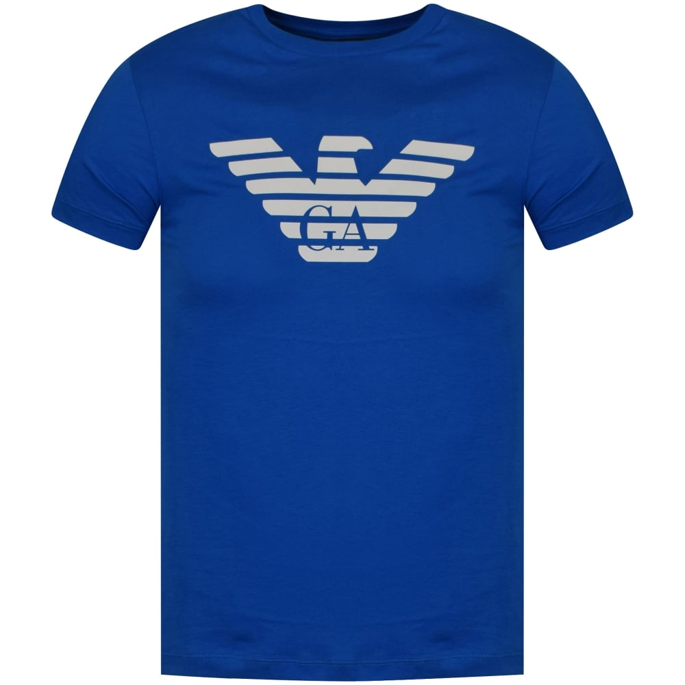 bb9c45ca4c EMPORIO ARMANI Emporio Armani Blue/White Eagle Logo T-Shirt