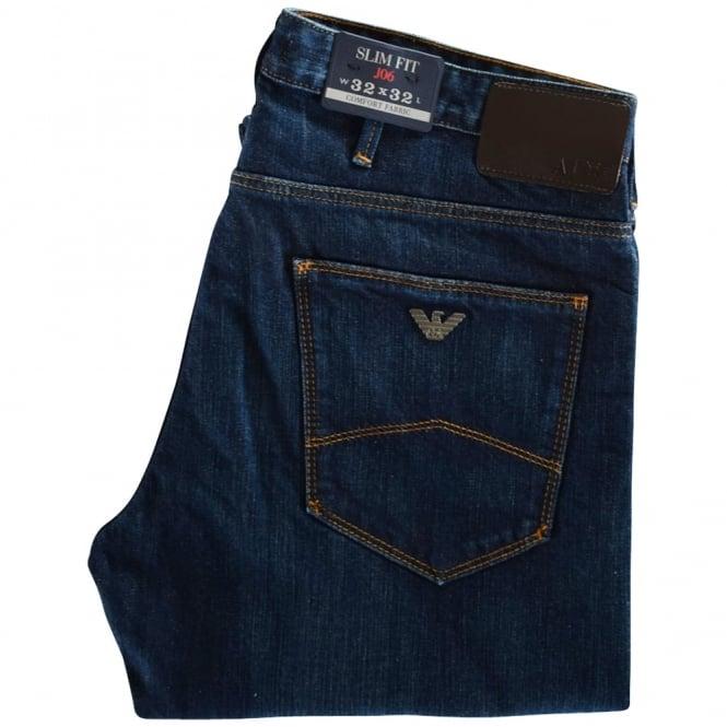ebc17f14aa67 EMPORIO ARMANI Emporio Armani Dark Wash J06 Slim Fit Jeans - Men ...