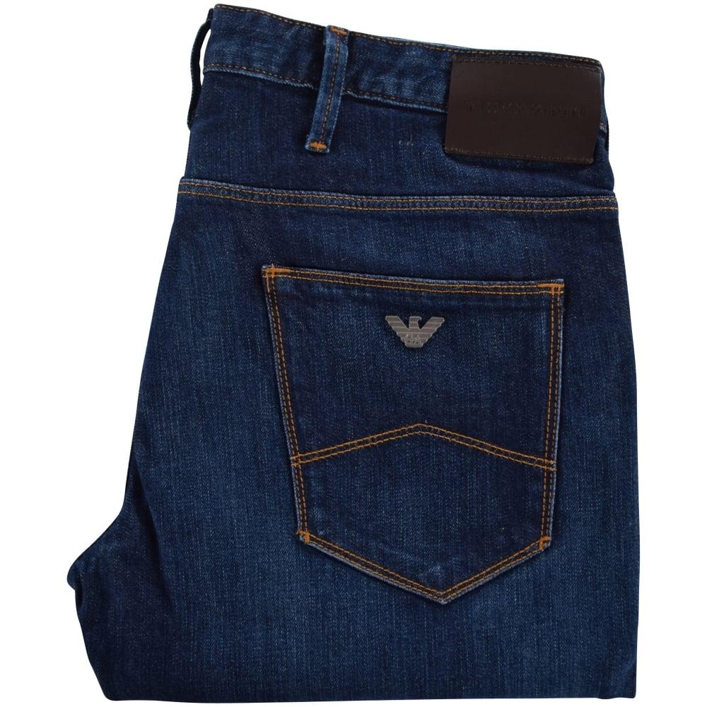 f695da3d5e23 EMPORIO ARMANI Emporio Armani Dark Wash J21 Regular Fit Jeans - Men ...
