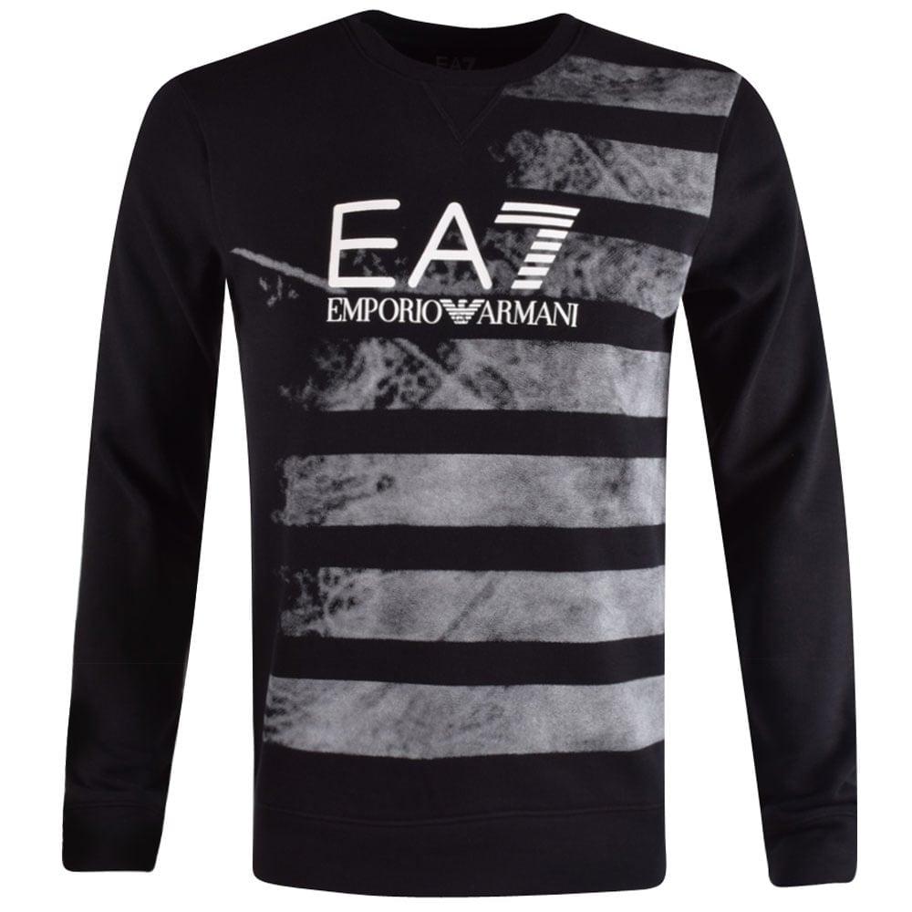 8d163ee371b EMPORIO ARMANI EA7 Emporio Armani EA7 Black Graphic Sweatshirt - Men ...