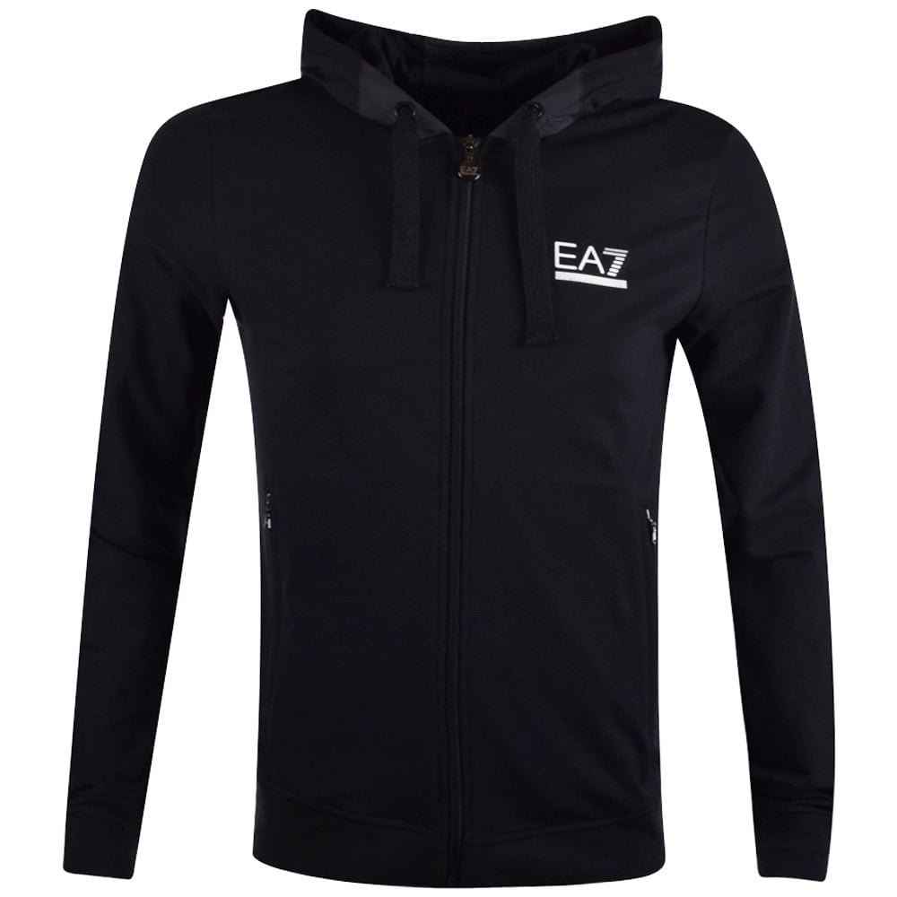 0be838fd74c EMPORIO ARMANI EA7 Emporio Armani EA7 Black Logo Hoodie - Men from ...