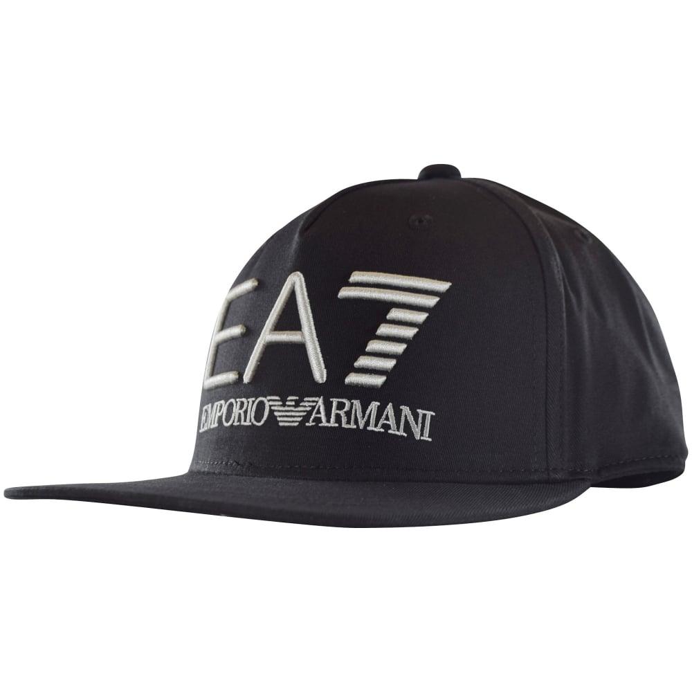 aecfb52f5ee63 EMPORIO ARMANI EA7 Emporio Armani EA7 Black Logo Snapback Cap - Men ...
