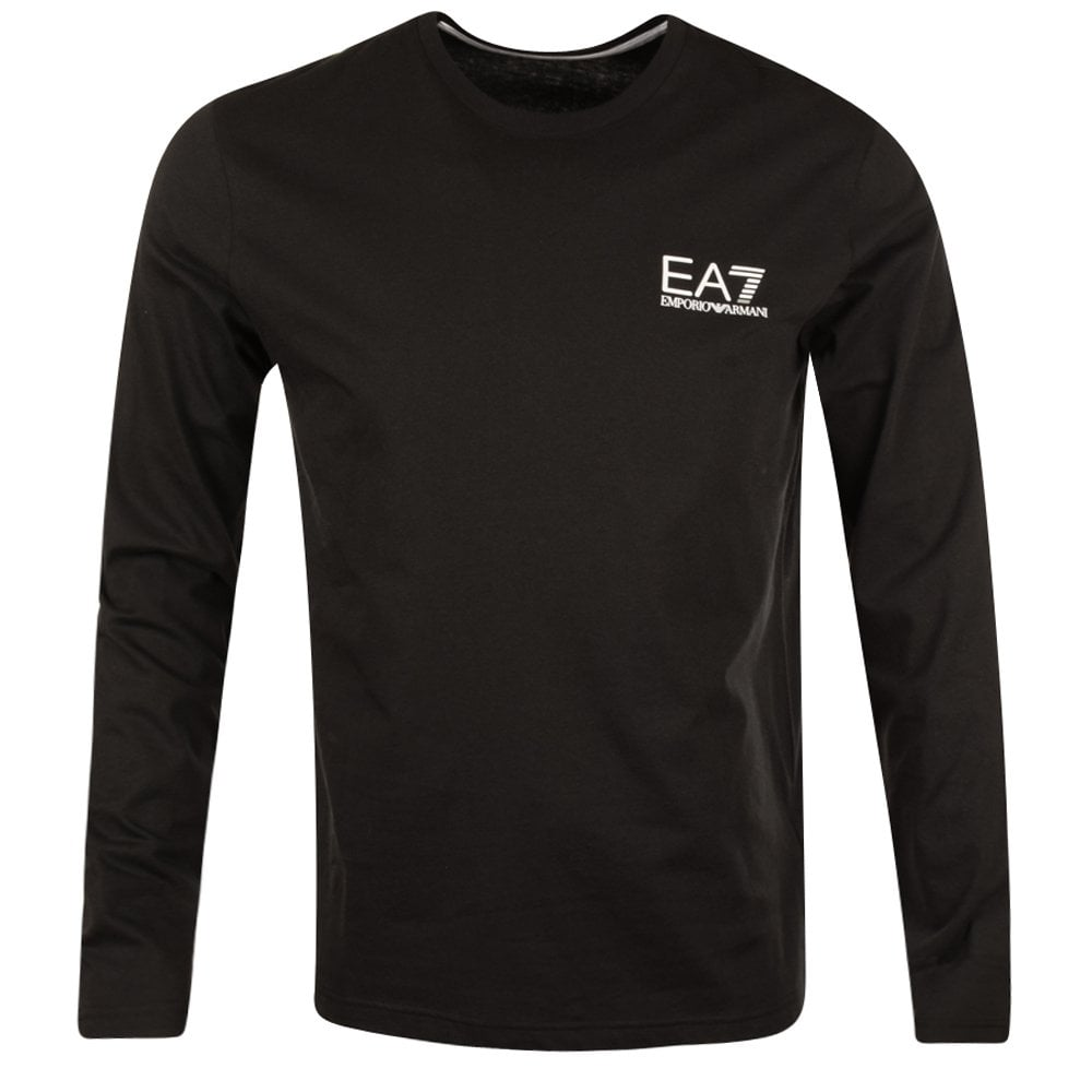 61fa0143e24d EMPORIO ARMANI EA7 Emporio Armani EA7 Black Long Sleeve T-Shirt ...