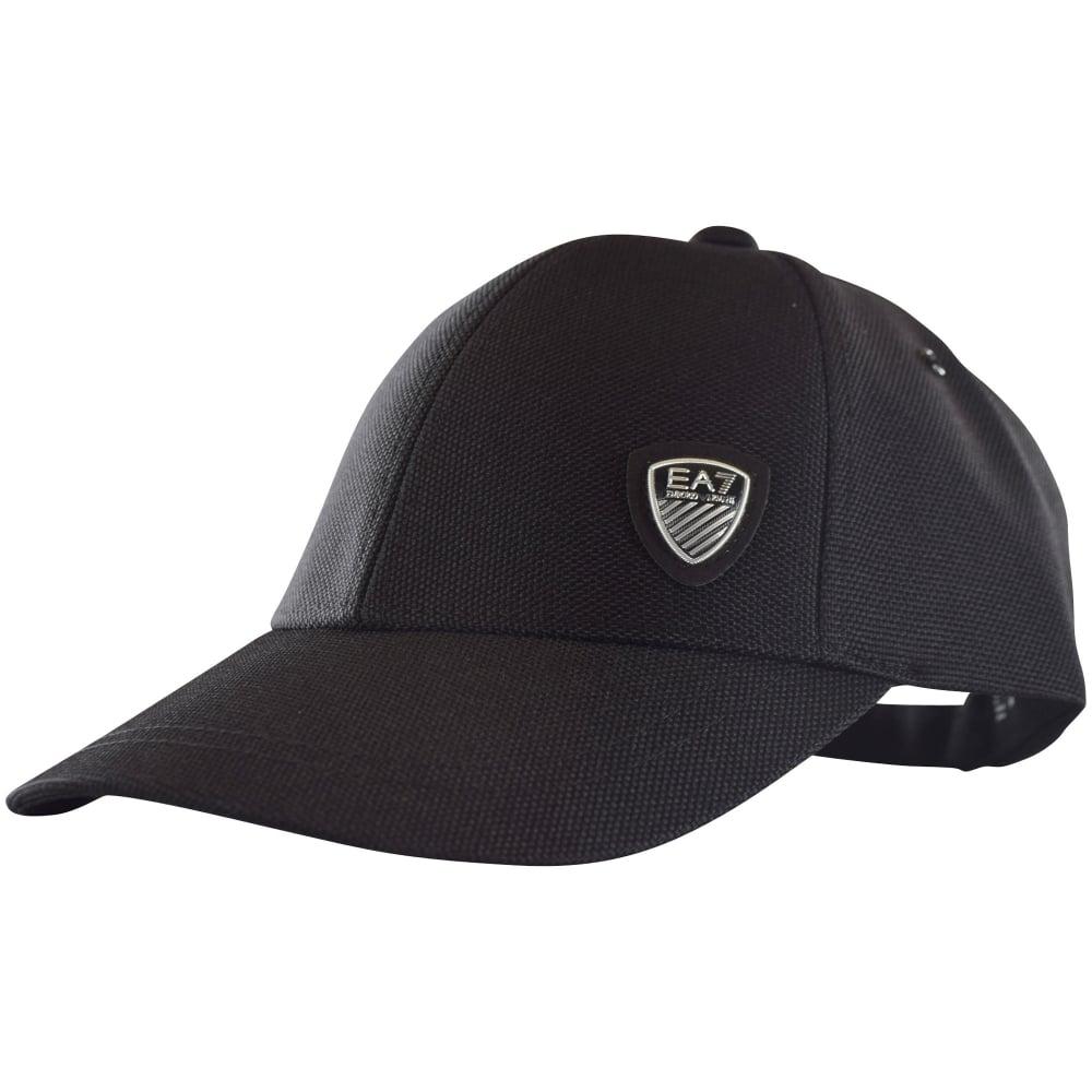 EMPORIO ARMANI EA7 Emporio Armani EA7 Black Mesh Logo Baseball Cap ... 6ade969db46