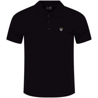 Emporio Armani EA7 Black Shield Logo Polo Shirt