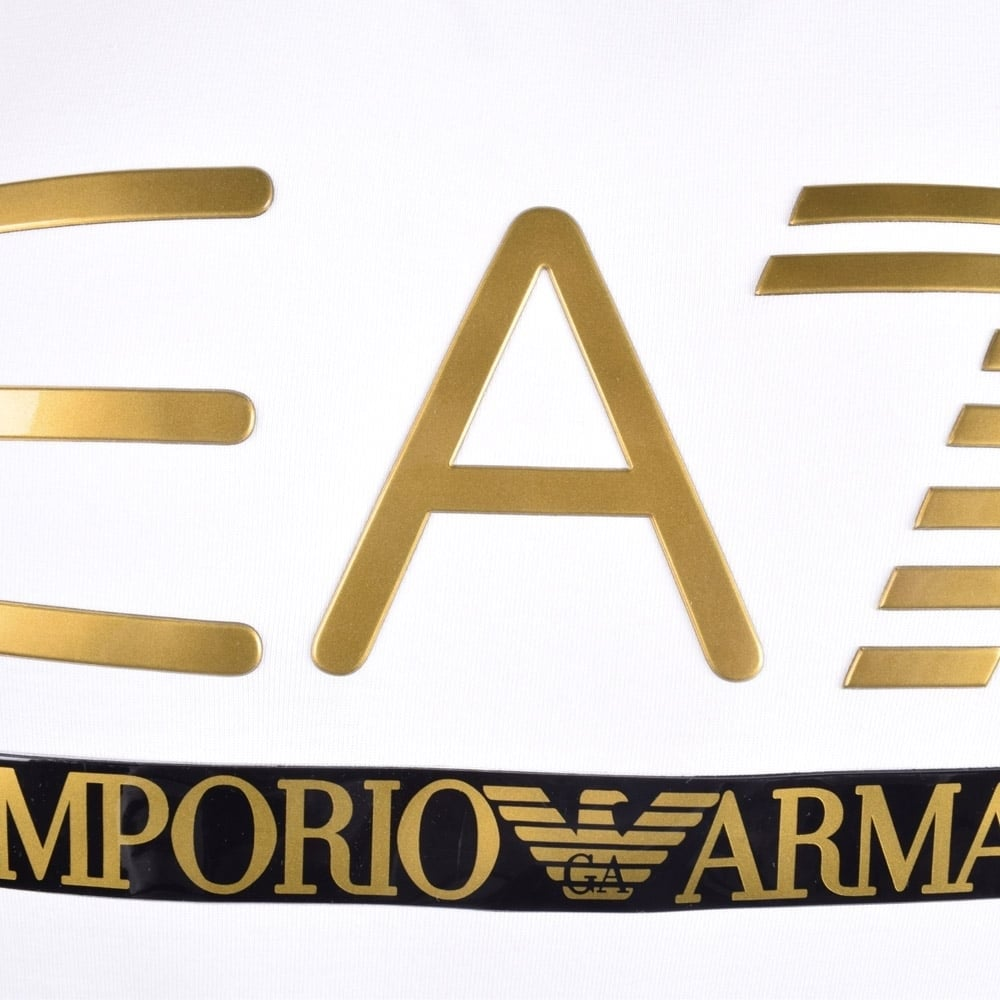 Emporio armani ea7 emporio armani ea7 white printed logo t - Emporio giorgio armani logo ...
