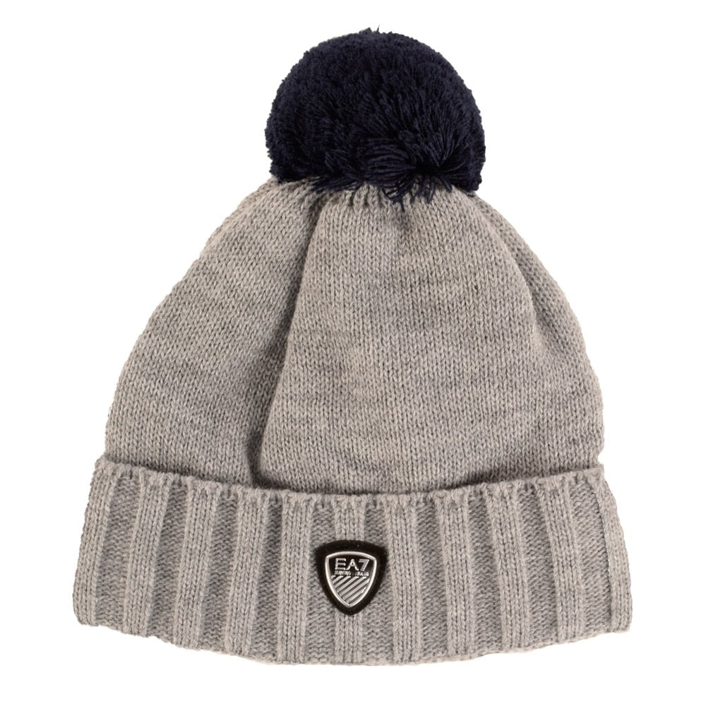 EMPORIO ARMANI EA7 Emporio Armani EA7 Grey Beanie Hat - Men from ... 3172b795b78