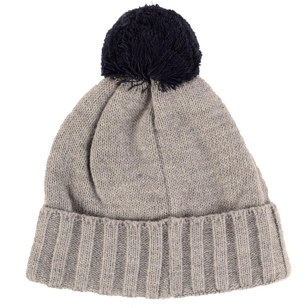 ffbb8601636 EMPORIO ARMANI EA7 Emporio Armani EA7 Grey Beanie Hat - Men from ...