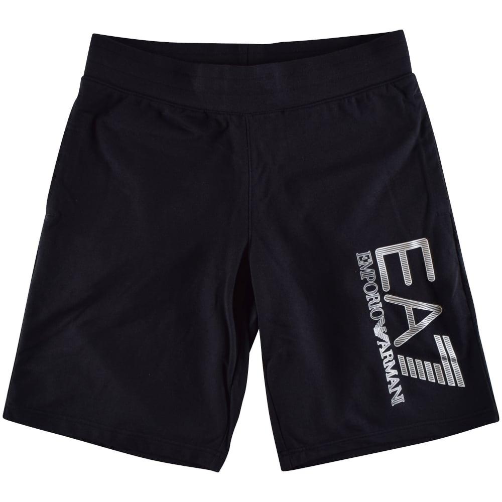 ef7da90e7e Large Logo Black Cotton Shorts