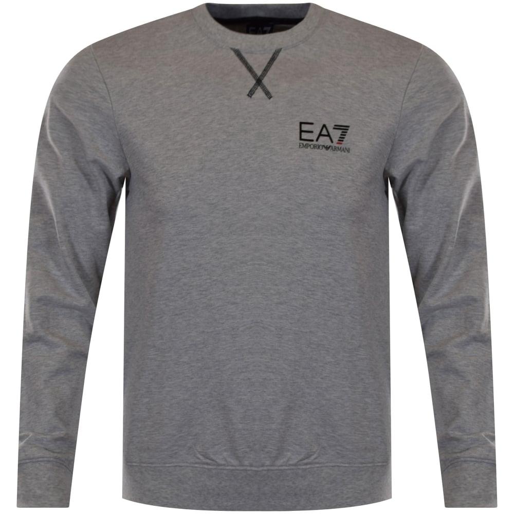 d4ee41c5 EMPORIO ARMANI EA7 Emporio Armani EA7 Light Grey Logo Sweatshirt ...