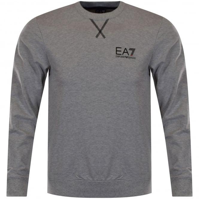 88b646d13 EMPORIO ARMANI EA7 Emporio Armani EA7 Light Grey Logo Sweatshirt ...