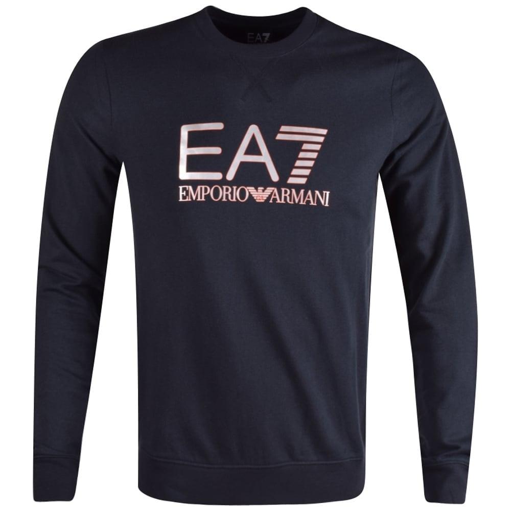 ee6c1b63ba60e EMPORIO ARMANI EA7 Emporio Armani EA7 Navy Crew Neck Sweatshirt ...