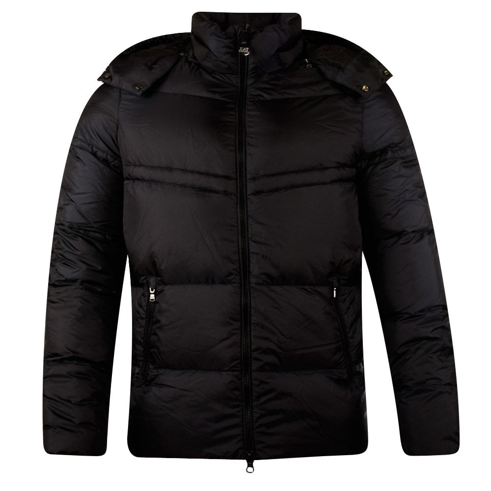 164a8362f7 Navy Hooded Puffer Jacket