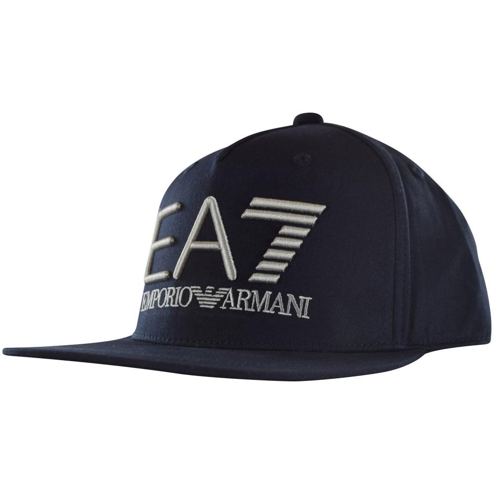 33d02f5c EMPORIO ARMANI EA7 Emporio Armani EA7 Navy Logo Snapback Cap ...