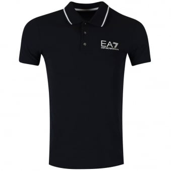 Emporio Armani EA7 Navy Short Sleeve Polo Shirt