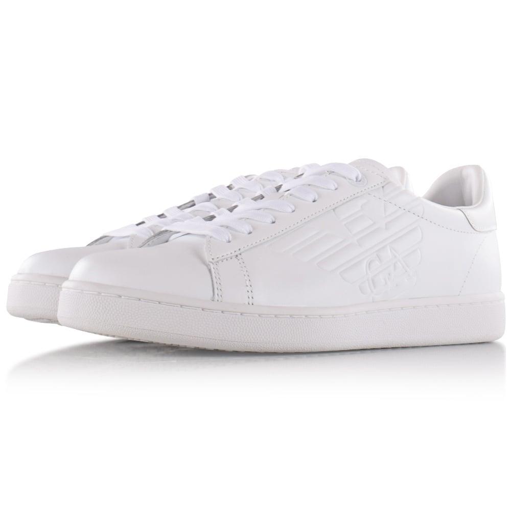 03e3a240f39b5 EMPORIO ARMANI EA7 Emporio Armani EA7 White Leather Trainers - Men ...