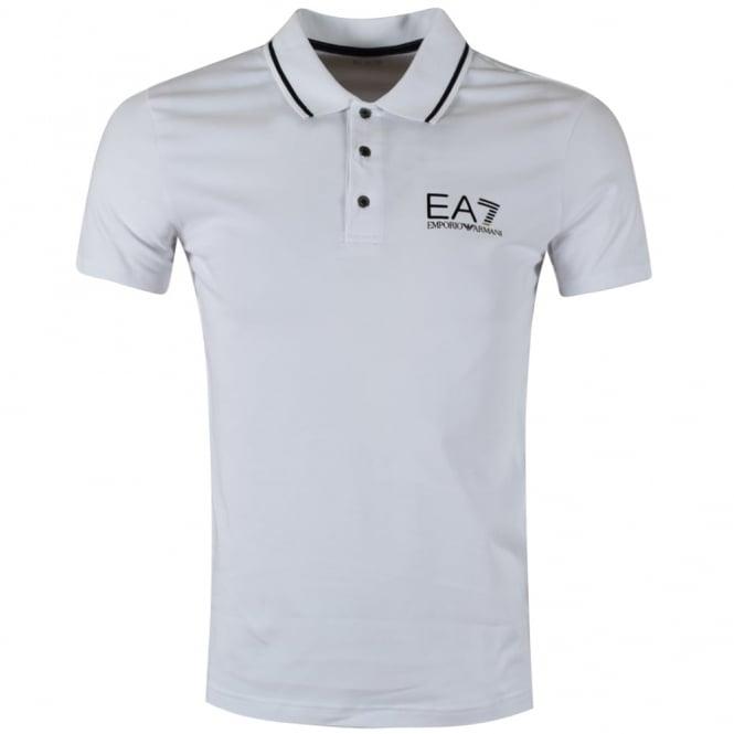 92b4106346b EMPORIO ARMANI EA7 Emporio Armani EA7 White Short Sleeve Polo Shirt ...