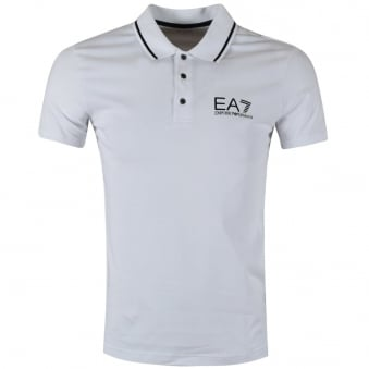 Emporio Armani EA7 White Short Sleeve Polo Shirt
