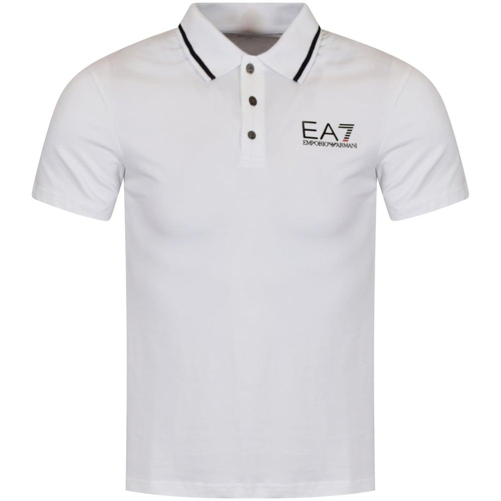 374adce7 EMPORIO ARMANI EA7 Emporio Armani EA7 White Short Sleeved Polo - Men ...