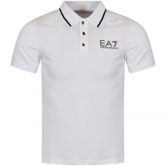 Emporio Armani EA7 White Short Sleeved Polo