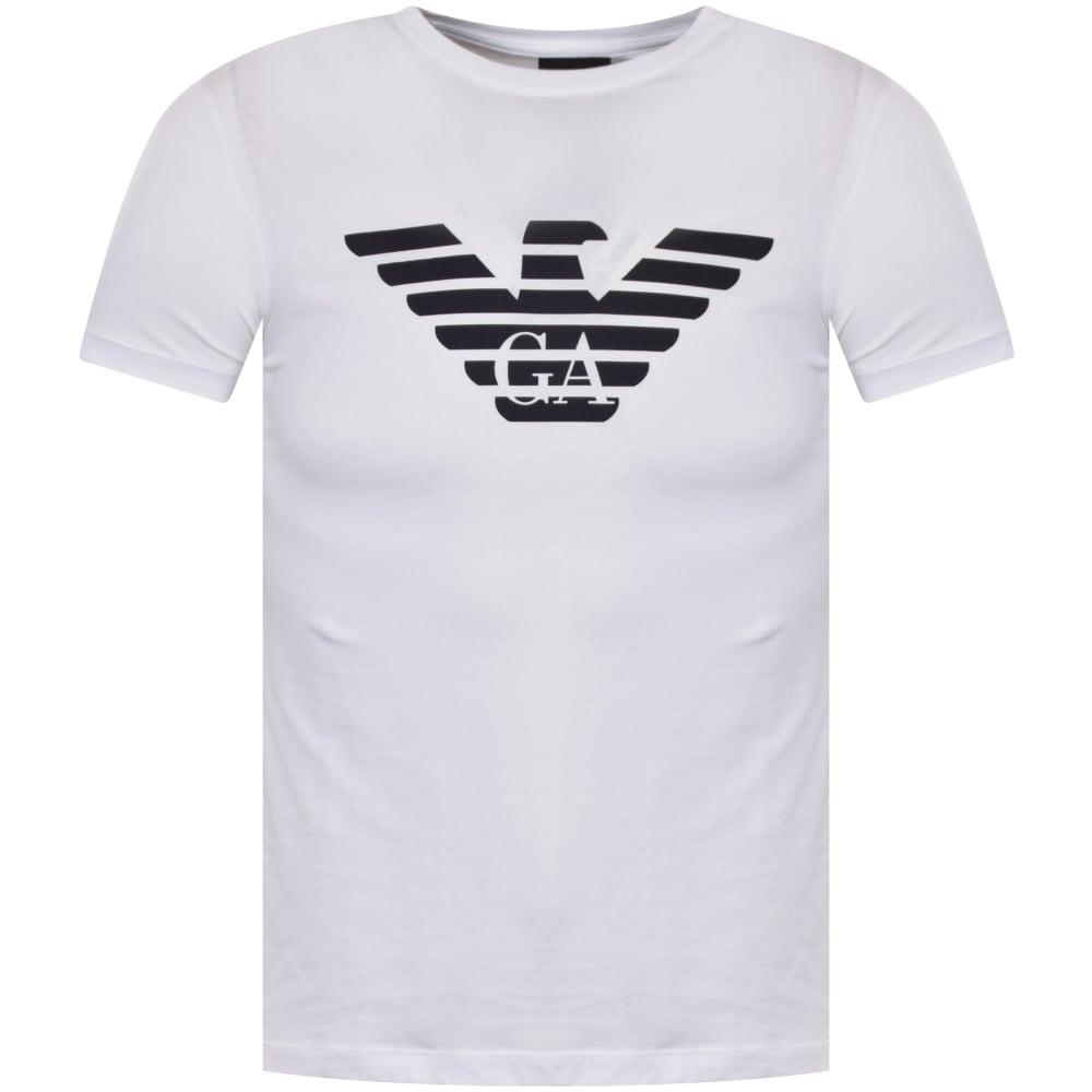 d73e73787e8 EMPORIO ARMANI Emporio Armani Eagle Logo T-Shirt In White - Men from ...