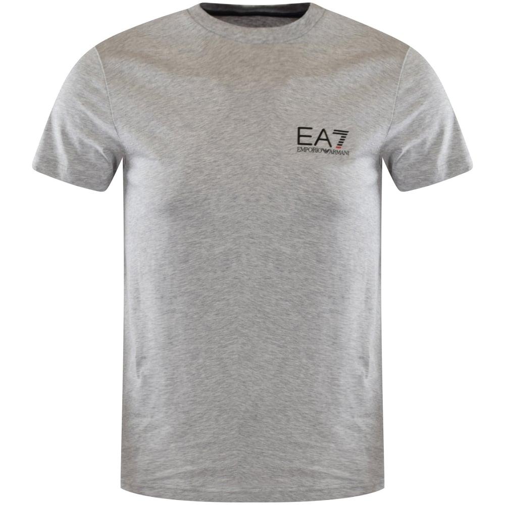 cf29f03c EMPORIO ARMANI EA7 Emporio Armani Grey Logo T-Shirt - Men from ...