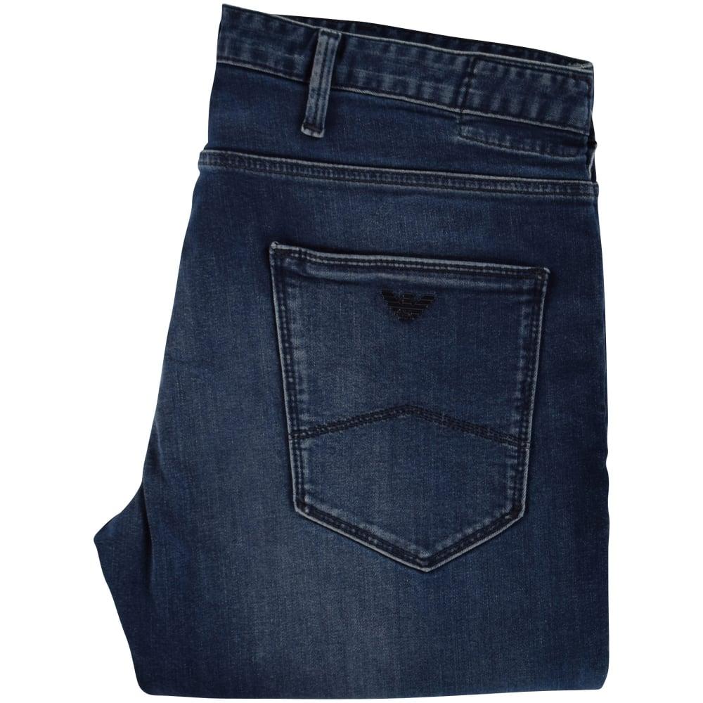 149c097e2c079 EMPORIO ARMANI Emporio Armani Indigo Wash J06 Slim Fit Jeans - Men ...