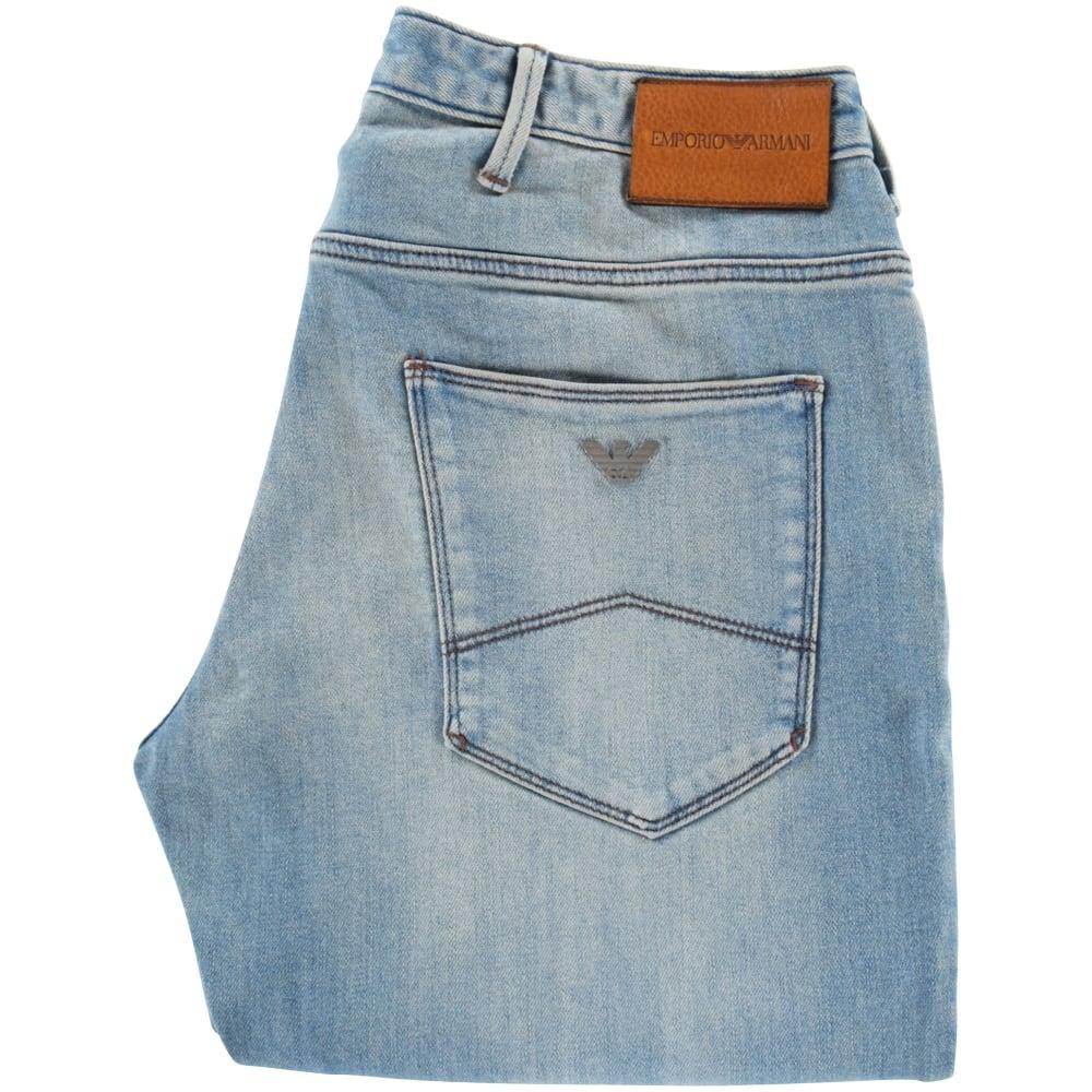 df7f6411 EMPORIO ARMANI Emporio Armani Light Wash J06 Slim Fit Jeans