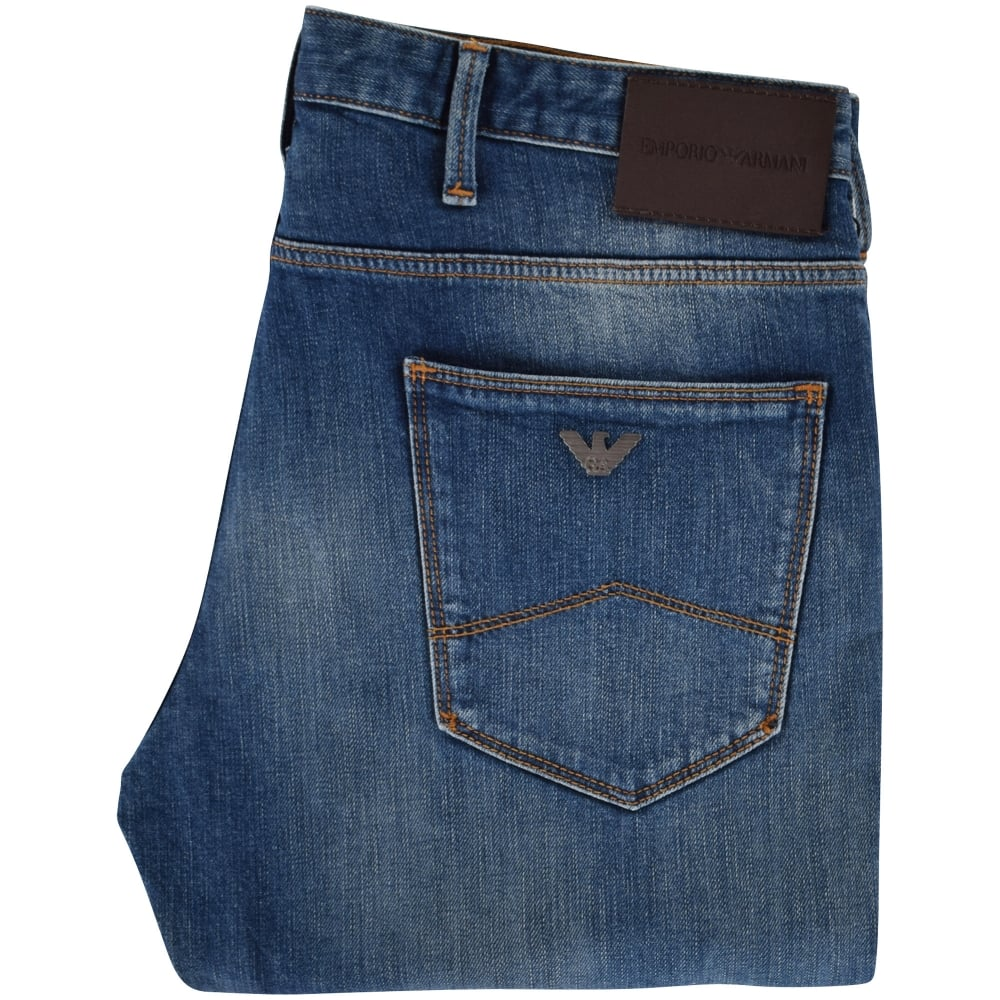 From Armani Wash Jeans Mid Emporio Fit Men J06 Slim TlFc1JK