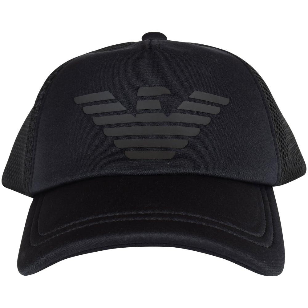 EMPORIO ARMANI Emporio Armani Navy Black Neoprene   Mesh Cap - Men ... 361ab6cbb00
