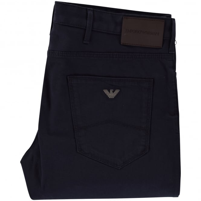 EMPORIO ARMANI Navy J06 Slim Fit Chinos