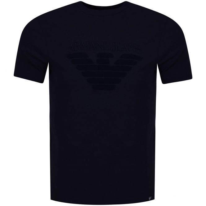 EMPORIO ARMANI Navy Toweled Logo T-Shirt