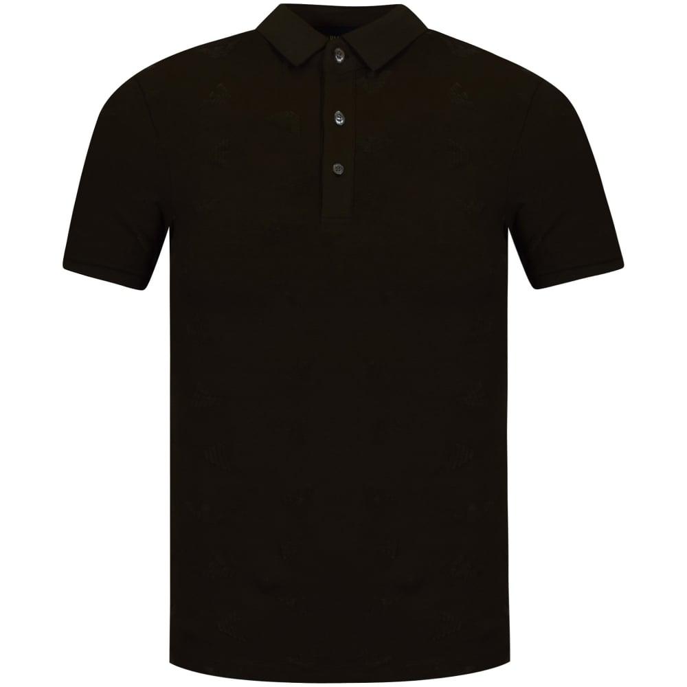 black armani polo shirt