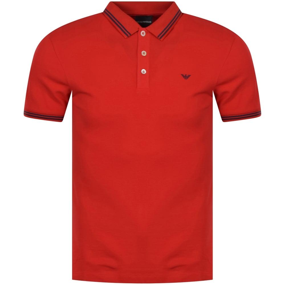 From Red Men Polo Chest Armani Shirt Emporio Logo xg8pqawaC