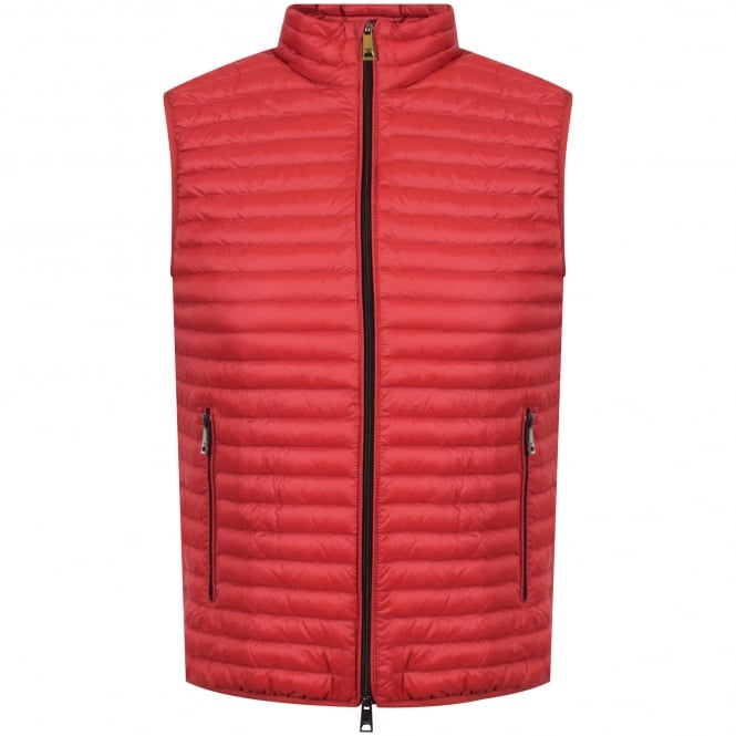 EMPORIO ARMANI Red Padded Gilet
